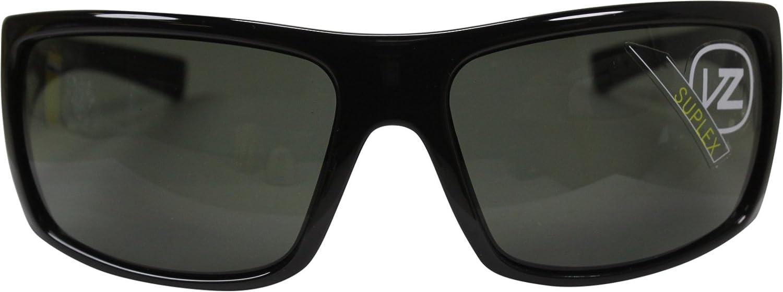 Black Gloss//Grey//One Size VonZipper Ether Suplex Mens Sports Sunglasses