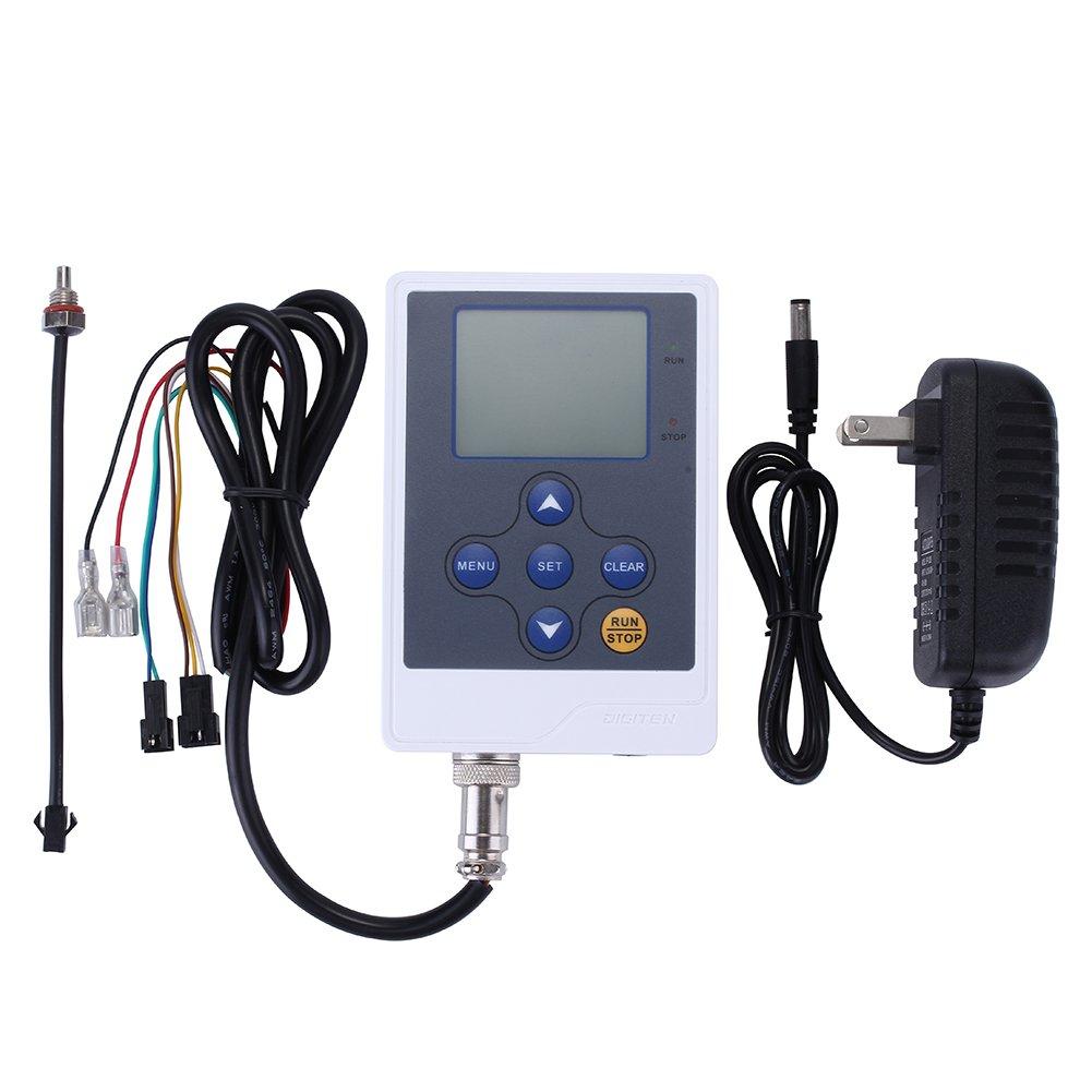 DIGITEN Water Flow Controller, Liquid Flow Rate Volume Counter LCD Digital Display Flowmeter Quantitative Controller Liter Gallon