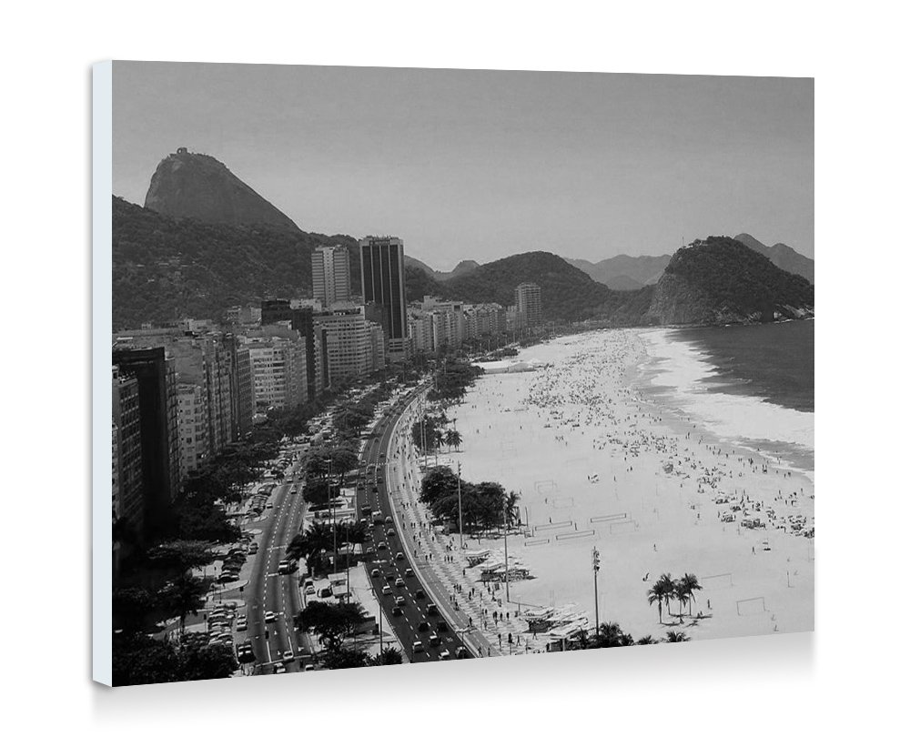 Amazon com rio de janeiro art print wall art frameless decorative painting black and white ready to hang 16x12 inches posters prints