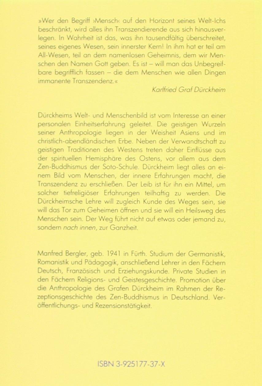 Die Tür geht nach innen auf: Zum Welt- und Menschenbild Karlfried ...
