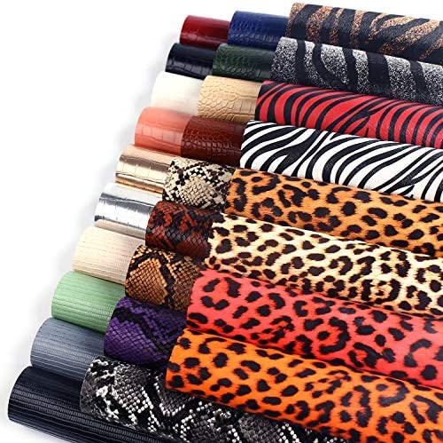 [해외]SIMPZIA 27PCS Faux Leather Sheets Including 4 Styles of Embossed and 2 Kinds of Printed Leather Fabric Sheets (7.8 x 5.9) for Earring Making Crafts DIY / SIMPZIA 27PCS Faux Leather Sheets Including 4 Styles of Embossed and 2 Kinds ...
