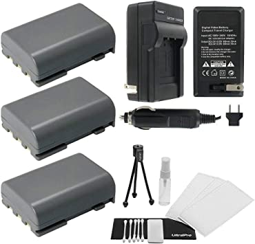 UltraPro Bundle Includes: Camera Cleaning Kit Camera Screen Protector NB-2LH High-Capacity Replacement Battery with Rapid Travel Charger for Select Canon Digital Cameras Mini Travel Tripod