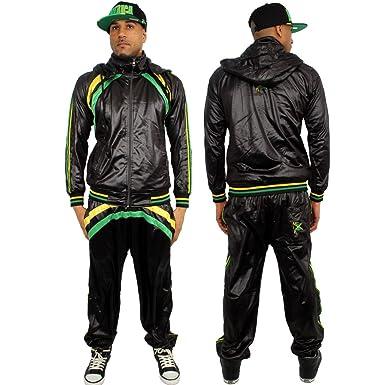 Streetwear Special jamaicaan y bandera de Jamaica Chándal Negro ...