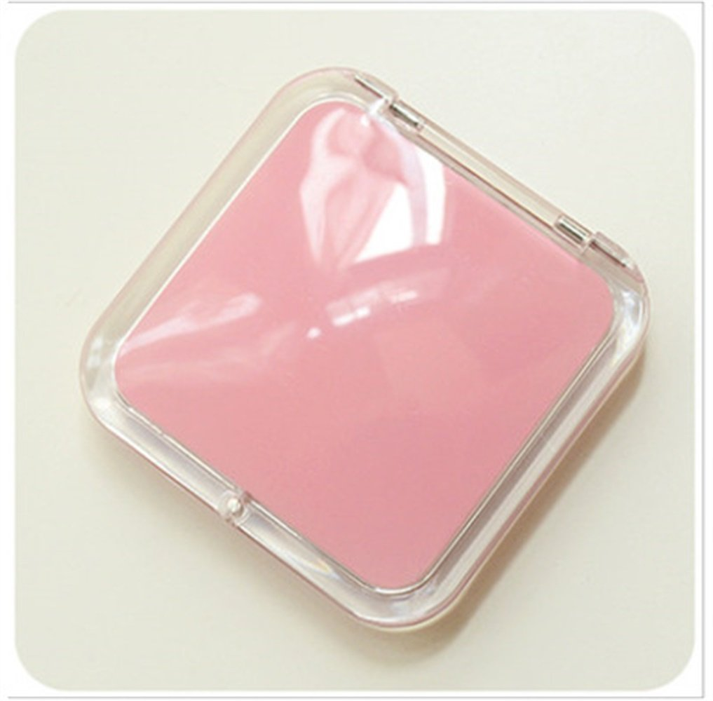 Childrens Mirror Mini Square Simple Candy Small Glass Mirrors Circles for Crafts Decoration Cosmetic Accessory Dark Pink