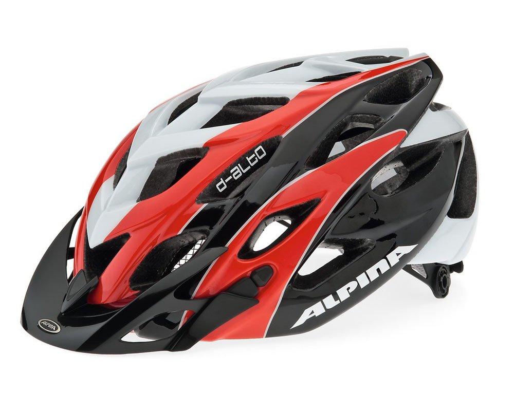 Alpina MTB Helme MTB D-Alto ROT schwarz Weiß (Größe  52-57 cm)