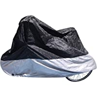 YJXJJD Bicycle Waterproof Cover Rain Cover Bicycle Bicycle UV Protector Utility Bicycle Cycling Outdoor Rain Cover Color : Black, Size : S