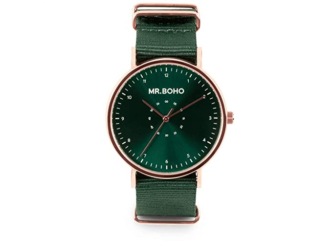 Reloj Mr.BOHO Mujer en Color Verde .000728640: Amazon.es ...