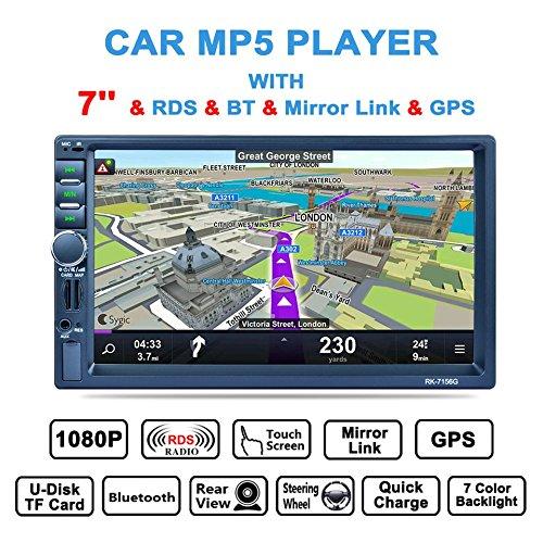 Baynne 7inch Car MP5 Player Bluetooth Car Radio Touch Screen GPS
