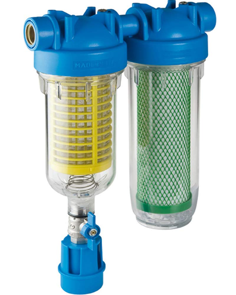 """HYDRA RAINMASTER DUO RLH CB//EC 1/"""" Brunnenwasserfilter Hauswasserfilter Sand"""