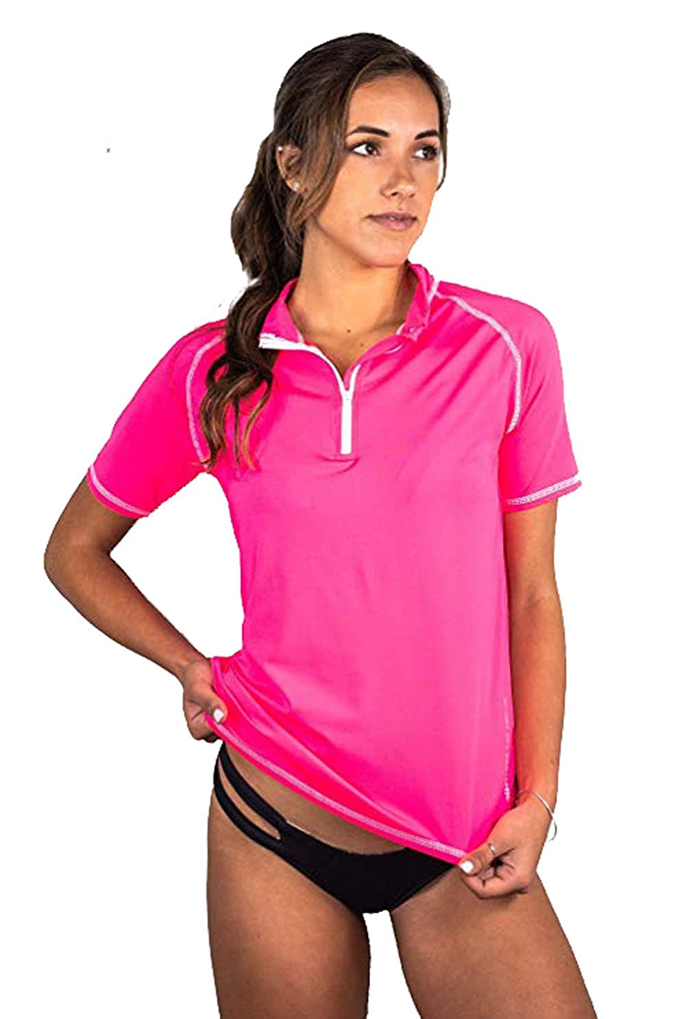 086b2bfe873b9 NO SWEAT, NO CHILL – QUICK DRY, BREATHABLE, LIGHTWEIGHT BLEND: Sweat  wicking, quick drying polyester and spandex swim shirts for women keep you  tempered, ...