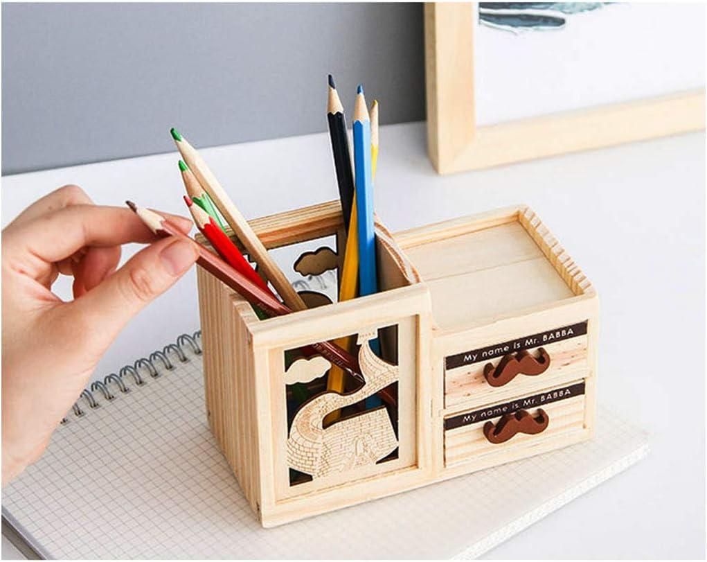 faggio SIPLIV portapenne in legno scatola di immagazzinaggio in legno naturale per la collezione di penne scrivania fornisce organizzatore regalo per scrivania ufficio aula casa