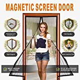 Magnetic Screen Door, Deweed Durable Full Frame Velcro Mesh Curtain with Magic Magnetic Closure, Fits Door Size up to 36