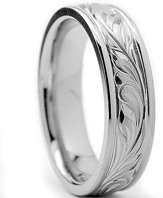 Ultimate Metals® Anillo de Matrimonio Titanio Unisexo, Banda ...