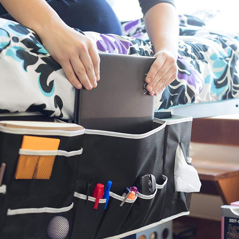 mouchoirs Poches de chevet sac de rangement pour t/él/écommande TV organiseur /à suspendre avec 12 poches canap/é-cabine lits pour gar/çon panier-lits//superpos/és noir t/él/éphone jouets pour enfants