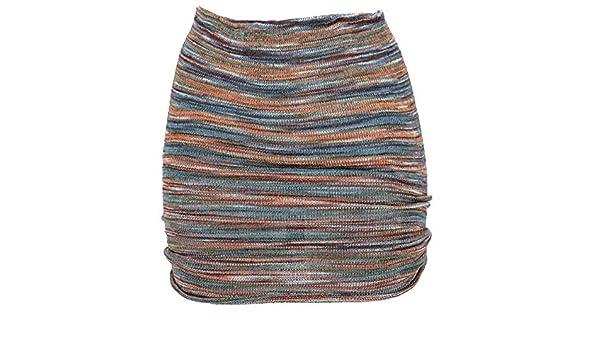 GURU-SHOP - Minifalda de Punto, Estilo Bohemio, para Mujer, Color ...