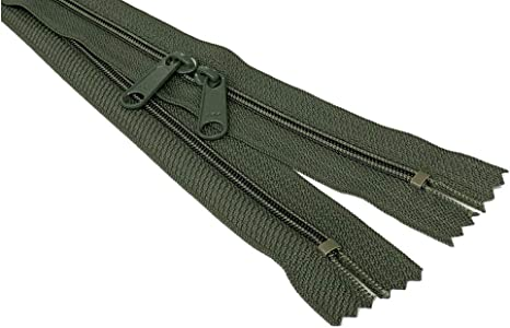 Made in USA 30 Inch 4.5mm YKK Zipper with Double Pull Head to Head Sliders
