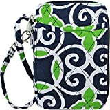 quilted small wallet - Geometric Sailor Print NGIL Quilted Wristlet Wallet