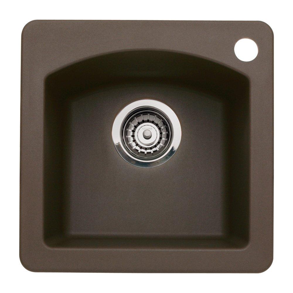 Blanco BL440202 Diamond Single Bowl Bar Sink, Cafe Brown