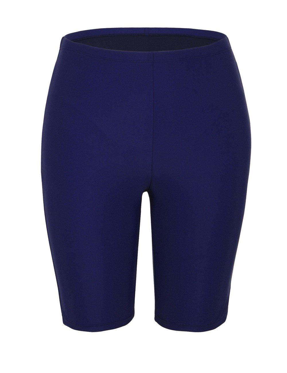 Firpearl Women's UPF50+ Sport Board Shorts Swimsuit Bottom Skinny Capris Swim Shorts FP7509