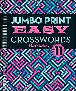 graphic relating to Easy Printable Crosswords called Jumbo Print Straightforward Crosswords #11 (Huge Print Crosswords
