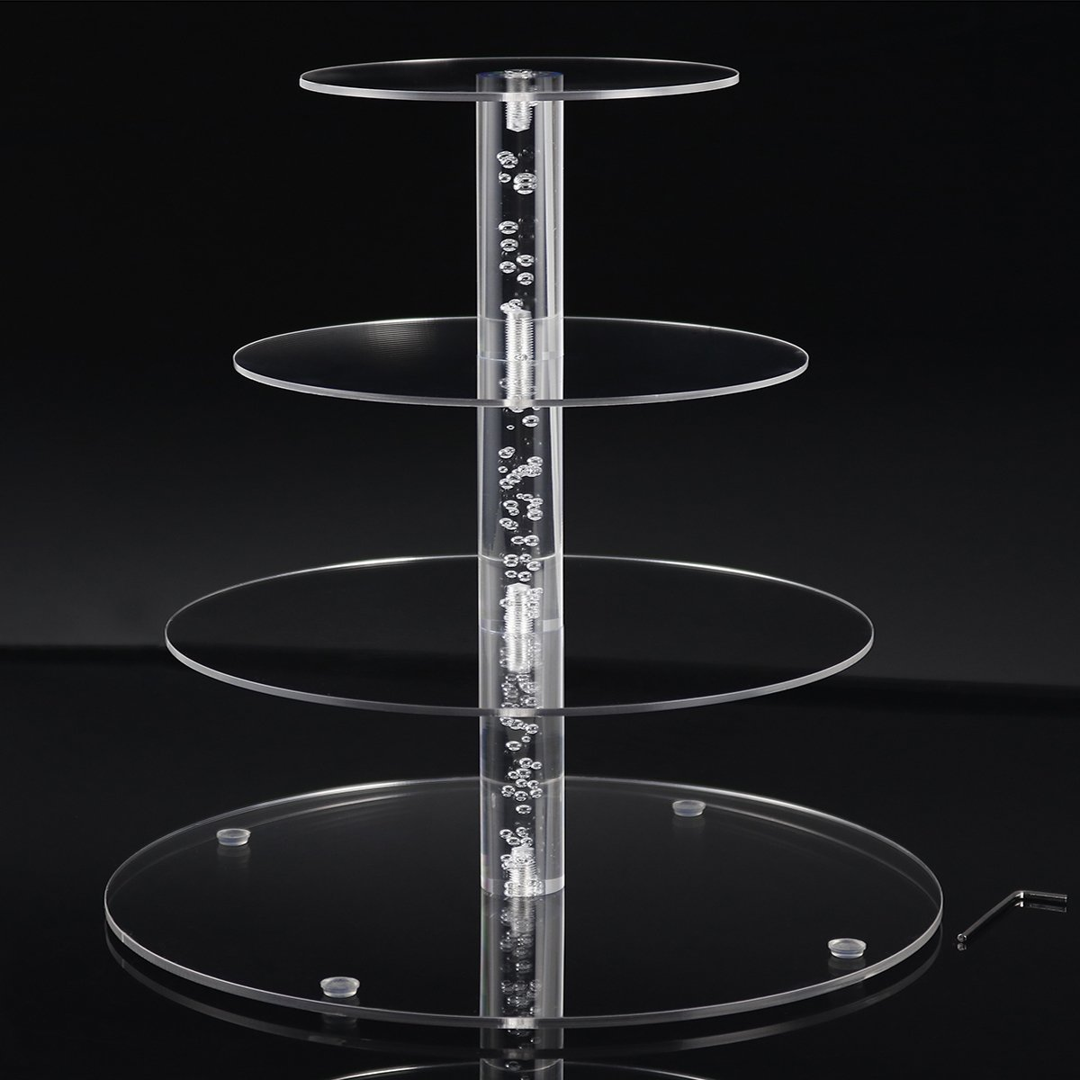 2018 New Style 4 Tiers Cupcake Stands Tower - Clear Acrylic Display Holder Tree - Tiered Cupcake Display- Tiered Round Pastry Stand Dessert Stands Wedding Cake Stands For Parties Birthday - DYCacrlic by DYCacrlic (Image #2)