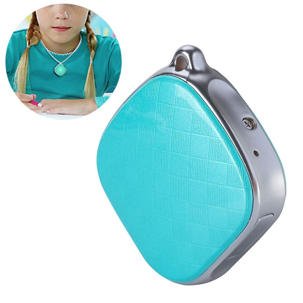 Bewinner GPS Necklace Tracker for Kids,GPS + LBS + Wi-Fi Positioning,GPS Intercom Tracker Support SOS Call/History Track/Electronic Fence/Multi-Platform Monitoring by Bewinner