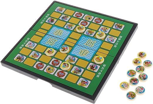 P Prettyia Kids Jungle Game Animal Chess Juego De Mesa Juego Animl Chess Puzzle Kids Educational Toy: Amazon.es: Juguetes y juegos