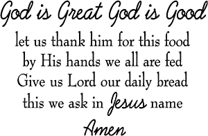 VWAQ God is Great God is Good Let Us Thank Him for This Food Wall Decal Full Version VWAQ-4538-V2