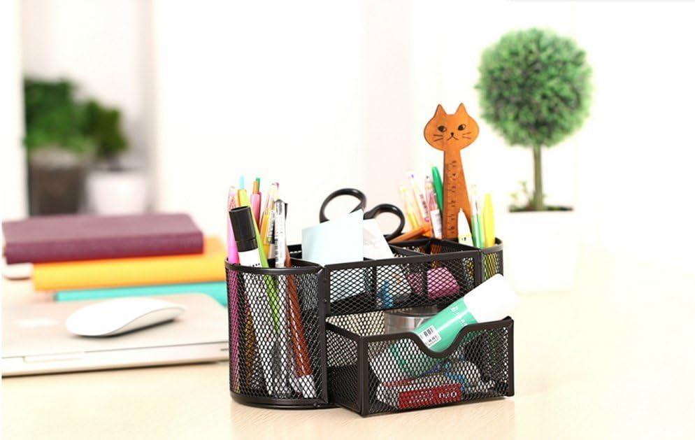 Schwarz Multifunktionaler Schreibtisch-Organizer mit Schublade Stifthalter f/ür B/üro Schule und Zuhause