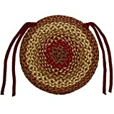 """IHF HOME DECOR CINNAMON DESIGN 15"""" Braided Chair Cover Seat Pads Rug Jute Fiber Material - Set of 4"""