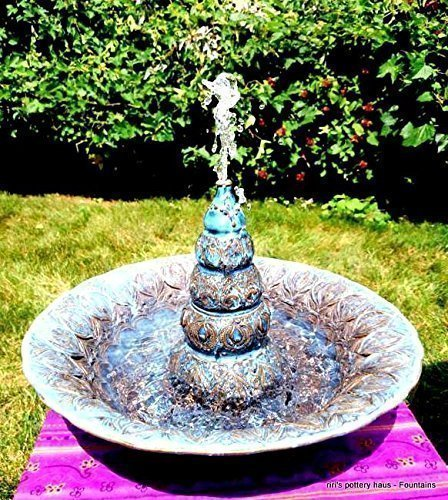 Custom large wheel-thrown stoneware tabletop or cat fountain - a soothing dose of tabletop serenity! by riri's pottery haus