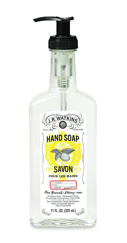 J.R. Watkins Liquid Hand Soap, Lemon, 11 ounce (Pack of 3)