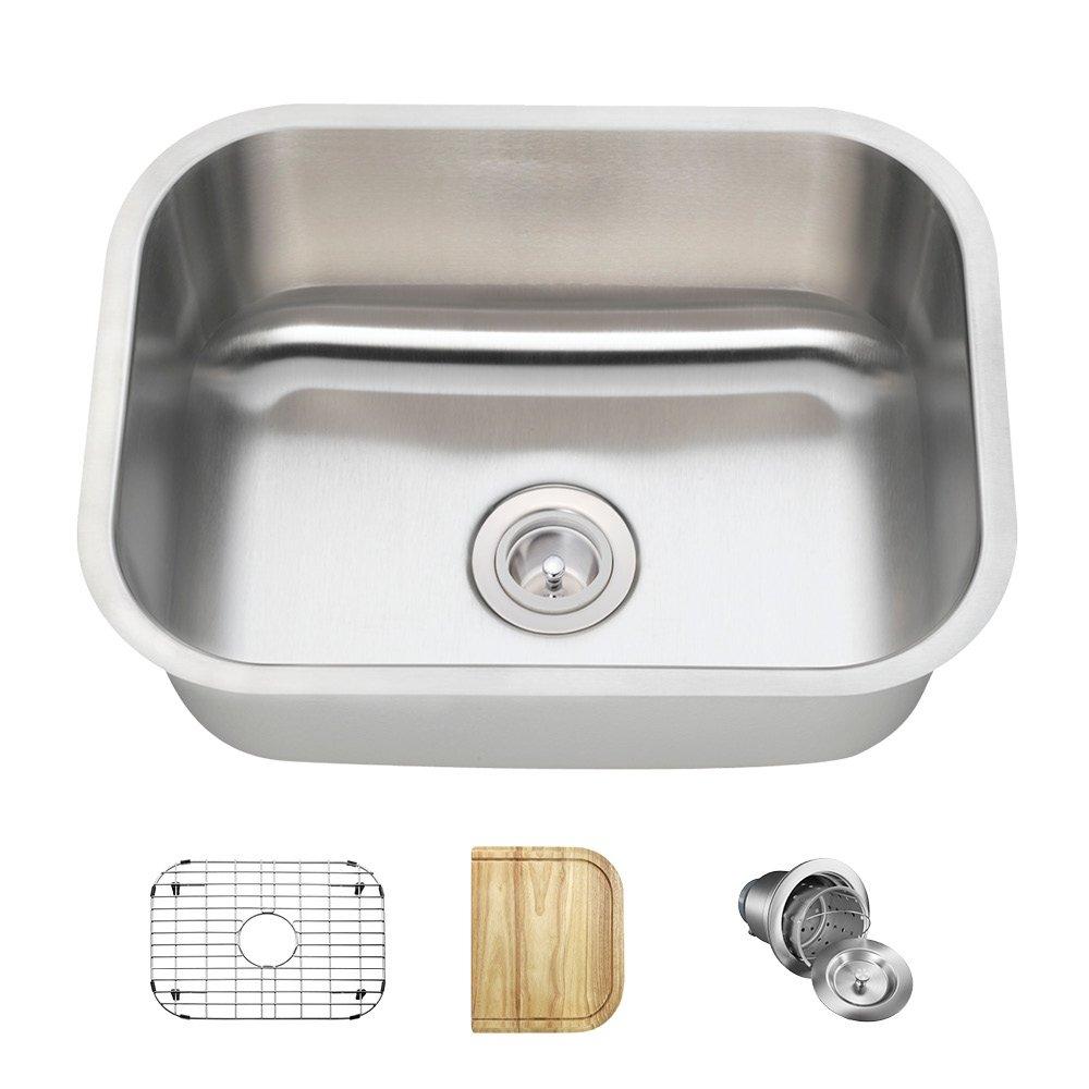 2318 16-Gauge Undermount Single Bowl Stainless Steel Sink - Bar ...