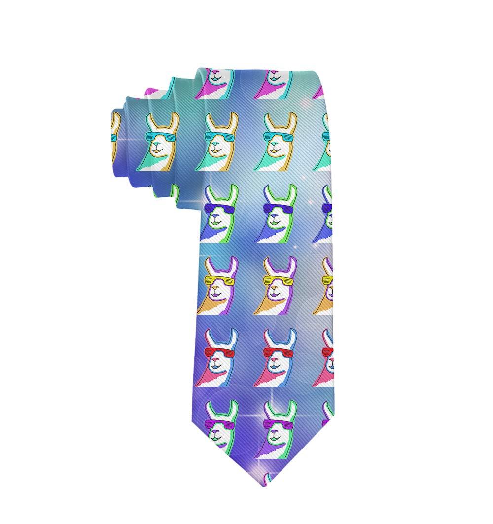 MrDecor - Corbata de Seda para Hombre, diseño de Llamas con Gafas ...