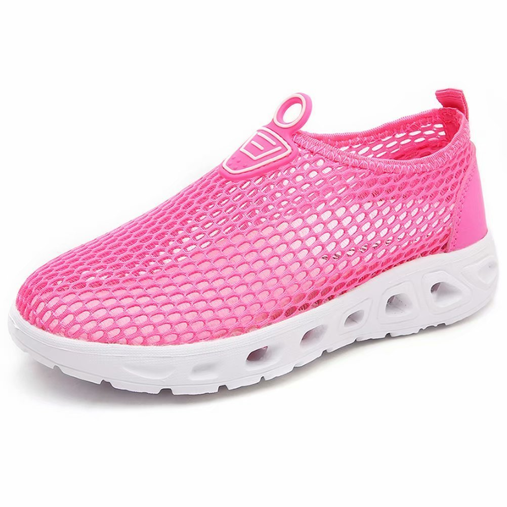 Adorllya Water Shoes for Kids Toddler Mesh Swim Shoes Slip on Sneakers Boys Girls for Beach Pool Running Pink