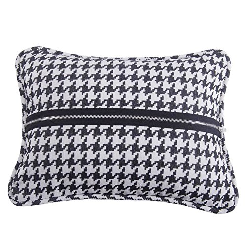 HiEnd Accents Houndstooth Piping and Zipper Detail Deco - Houndstooth Accent