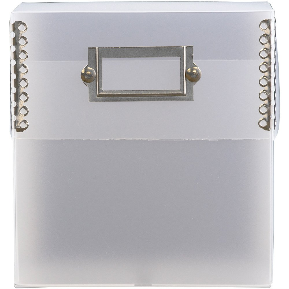 JAM Paper CD Box with Metal Edge - 5'' x 5 1/2'' x 2 1/2'' - Clear - 24/pack