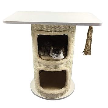Blackpoolal - Árbol rascador para Gatos con Cuerda y Hamaca, diseño de árbol de Cama
