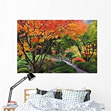 Fall Colors Portland Japanese Wall Mural by Wallmonkeys Peel and Stick Graphic (60 in W x 40 in H) WM140854