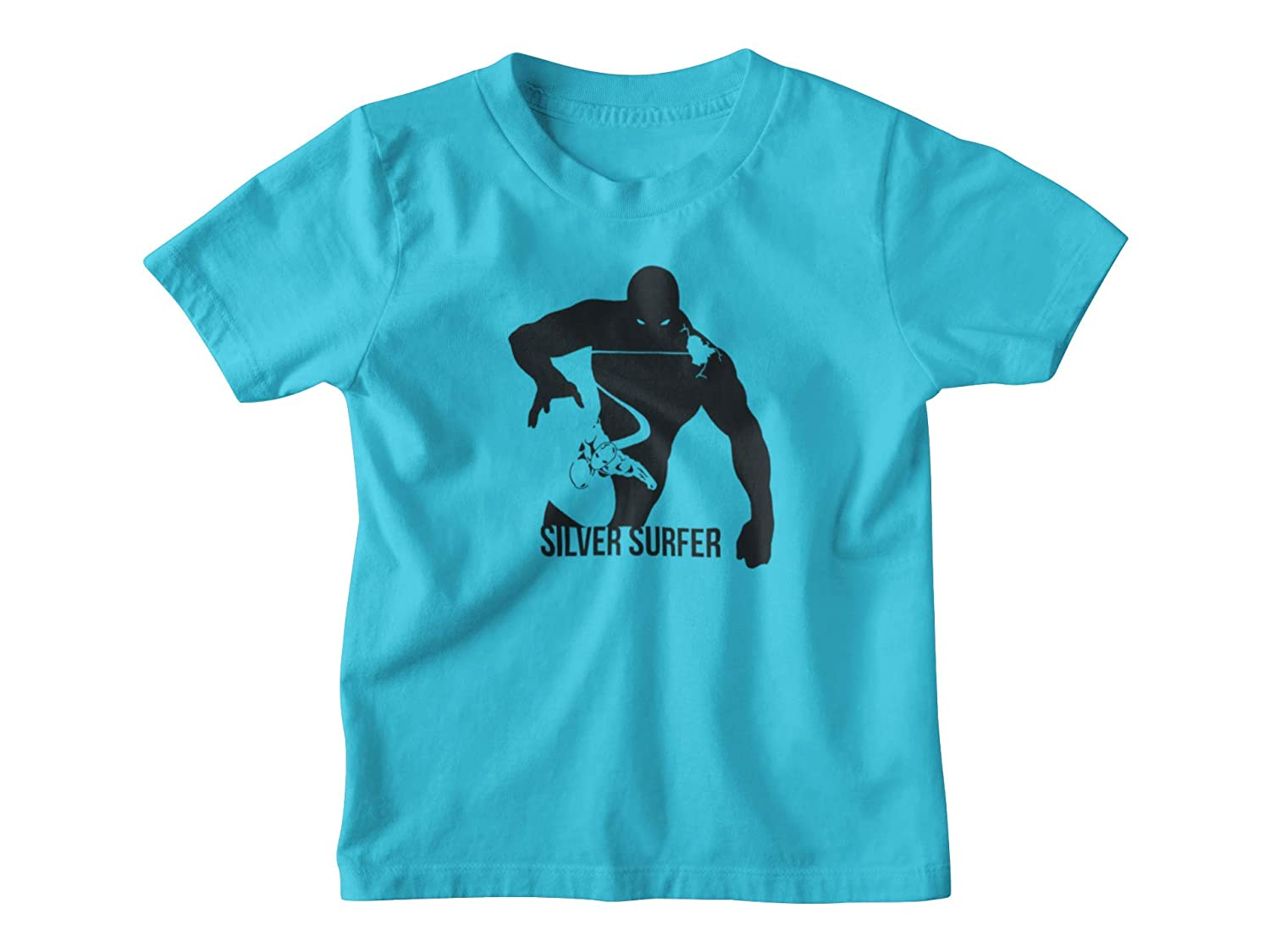Amazon Com Silver Surfer Shirt Silver Surfer Kids T Shirt In A Variety Of Colors Silver Surfer Youth Shirt Handmade