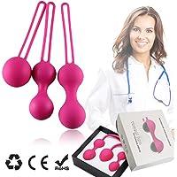 Bolas de Kegel, ejercicios de Kegel Pesas Kit de bolas de Ben Wa Kegel para principiante Vagina endurecimiento de control de la vejiga y ejercicios de suelo pélvico para mujeres - Set de 3