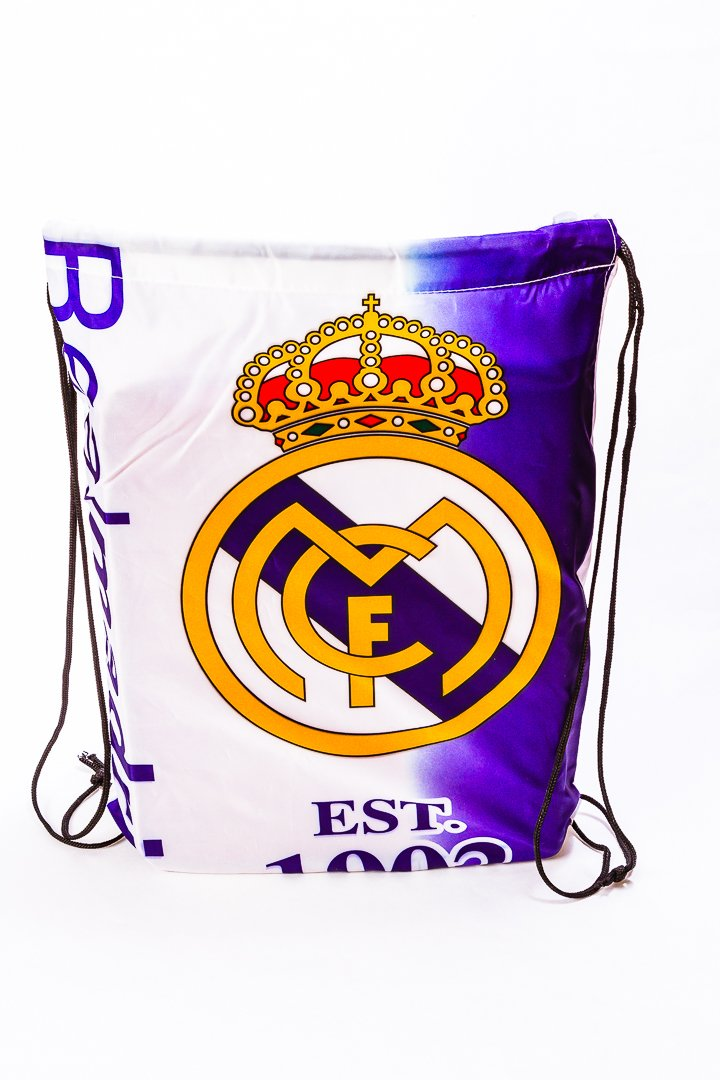 Real Madrid Soccer Drawstring Trainer Bag by Trademark Global (Image #1)