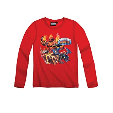BOYS LONG SLEEVED TOP SKYLANDER RED