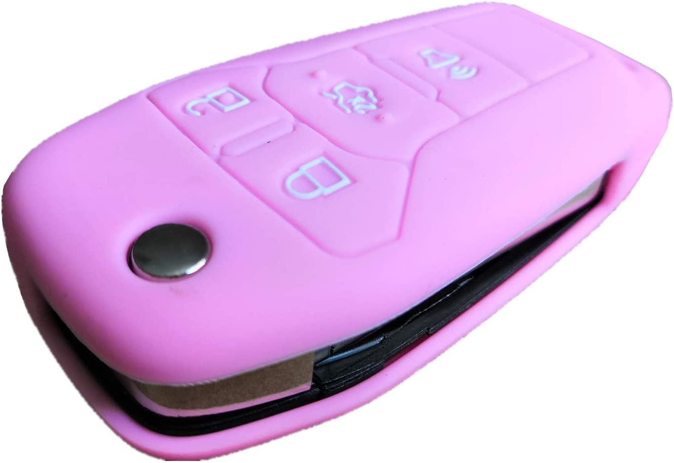 Violet Rpkey Silicone Keyless Entry Remote Control Key Fob Cover Case protector For 2013 2014 2015 2016 Ford Fusion N5F-A08TAA 164-R7986 3248-A08TAA