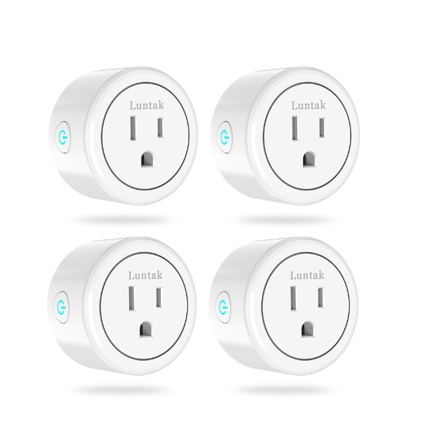 Luntak Mini Smart Plug 4 Pack App Remote Controlled WiFi Outlet for Alexa Echo Google Home