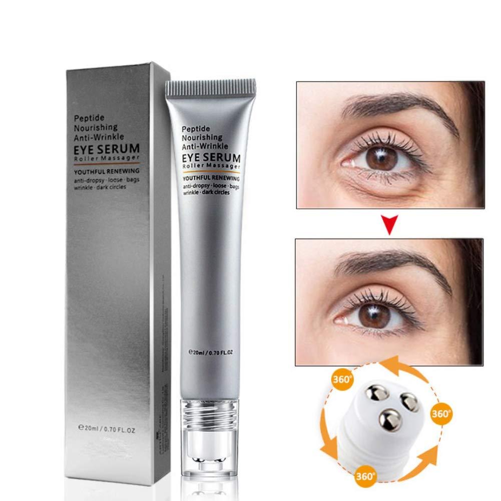 Eye Cream Eyes Roller Massager Polypeptides Serum Repair Moisturizing Nourishing Anti-aging, Remove Eye Bags Dark Circles Anti-wrinkle Anti-puffiness Serum Anti-Swelling, Fade Fine Lines (A# 20g)