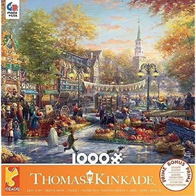 Ceaco Thomas Kinkade - Pumpkin Festival Puzzle - 1000 Pieces: Toys & Games