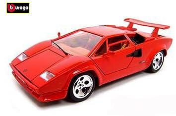 Burago Gold Collezione Lamborghini Countach 5000 Quattrovalvole Red