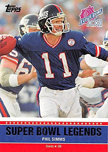 Phil Simms Football Card (New York Giants) 2011 Topps Super Bowl Legends XXI #SBL-XXI ()