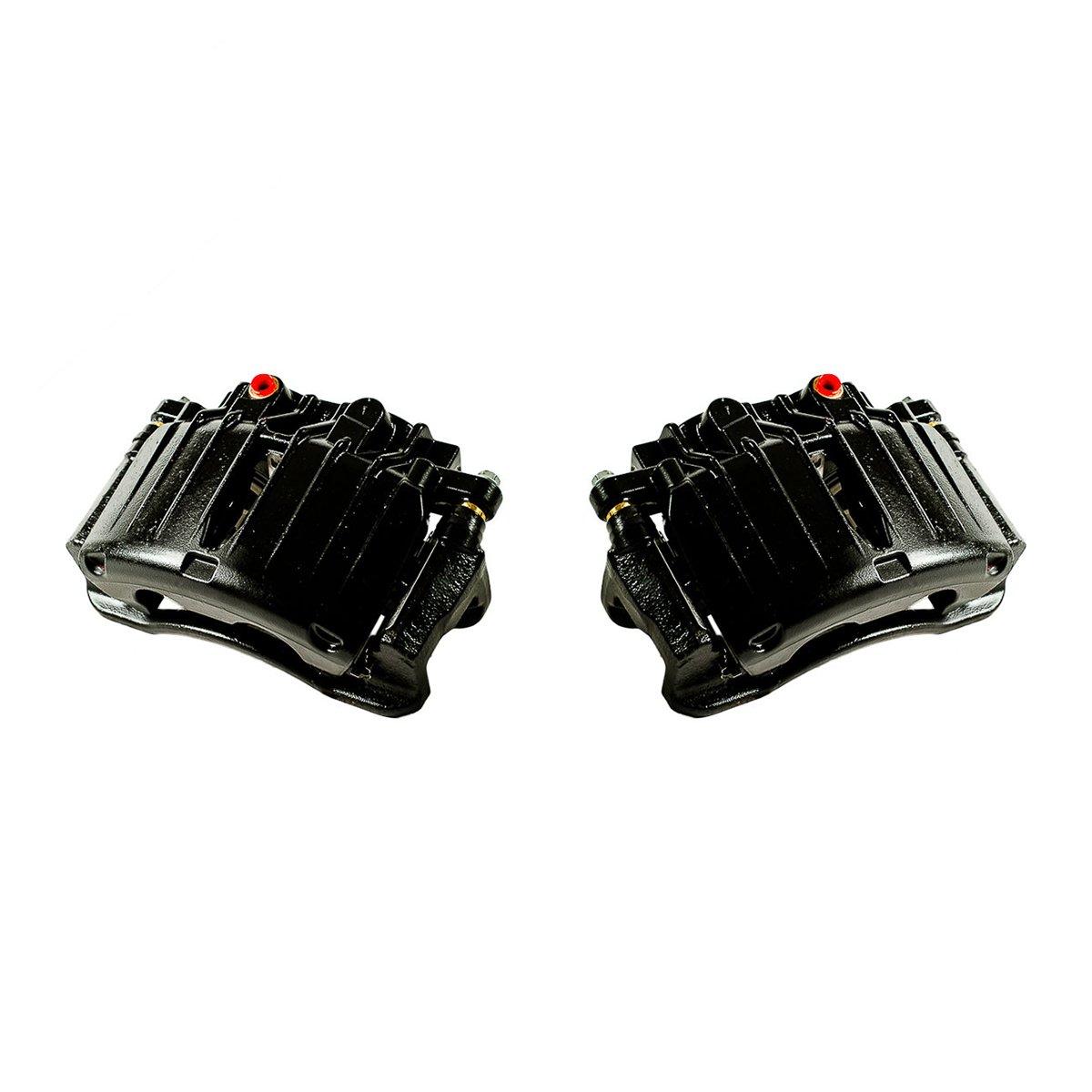 CK00972 [ 2 ] REAR Performance Grade Black Powder Coated Semi-Loaded Caliper Assembly Pair Set Callahan Brake Parts